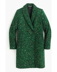 J.Crew - Petite Daphne Topcoat In Italian Tweed - Lyst