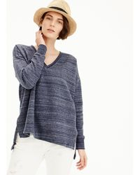 J.Crew - V-neck Sweatshirt - Lyst