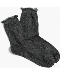 J.Crew - Lurex Bootie Socks - Lyst