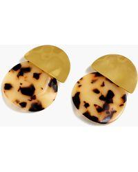 J.Crew - Tortoiseshell Statement Earrings - Lyst