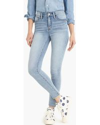 "J.Crew - Tall 9"" High-rise Jeggings In Azure Wash - Lyst"
