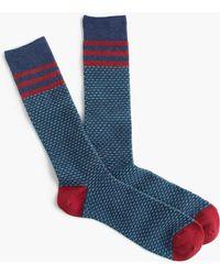 J.Crew - Blue Talon Stitch Socks - Lyst