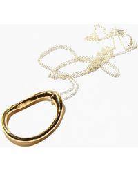Odette New York - Oblique Necklace - Lyst