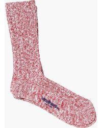 Druthers - White Slub Crew Socks - Lyst