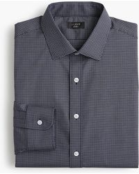 J.Crew - Ludlow Stretch Two-ply Easy-care Cotton Dress Shirt In Microcheck - Lyst
