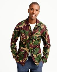 J.Crew - Wallace & Barnes Lightweight Military Jacket In Camo - Lyst