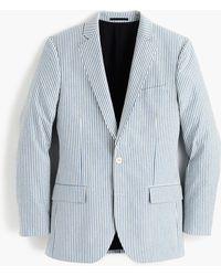 J.Crew - Ludlow Slim-fit Wide-lapel Suit Jacket In Japanese Seersucker - Lyst