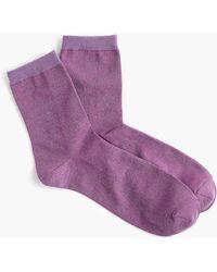 J.Crew - Space Dye Lurex Bootie Socks - Lyst