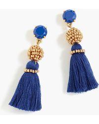 J.Crew - Bead And Tassel Earrings - Lyst