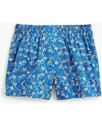 J.Crew - Blue Mixed Floral Boxers - Lyst