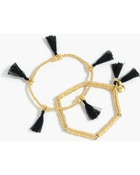 J.Crew - Bead And Tassel Bracelet Set - Lyst