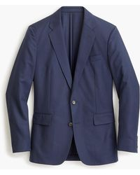 J.Crew - Ludlow Slim-fit Unstructured Suit Jacket In English Wool-cotton Twill - Lyst