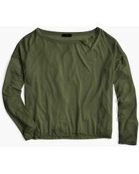 J.Crew - Long-sleeve Lyocell T-shirt - Lyst