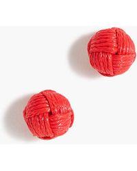 J.Crew - Love Knot Stud Earrings - Lyst
