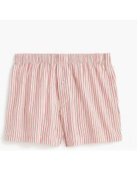 J.Crew - Stretch Red And White Striped Boxers - Lyst