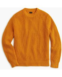 J.Crew - Cotton Thermal Heavyweight Sweater - Lyst