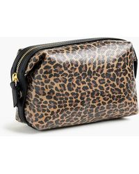 J.Crew - Large Dopp Kit In Leopard Coated Canvas - Lyst
