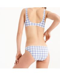 J.Crew - Lowrider Bikini Bottom In Oversized Matte Gingham - Lyst