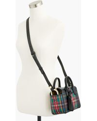 J.Crew - The Harper Mini Satchel In Stewart Black Tartan-printed Italian Leather - Lyst