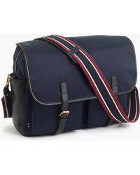 J.Crew - Oar Stripe Nylon Messenger Bag - Lyst