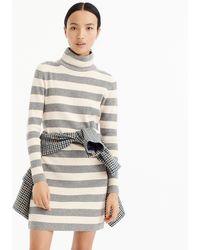 J.Crew - Petite Striped Turtleneck Sweater-dress - Lyst
