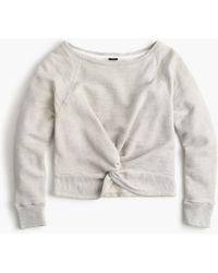 J.Crew - Twist-front Sweatshirt - Lyst