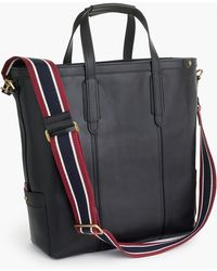 J.Crew - Oar Stripe Leather Tote Bag - Lyst