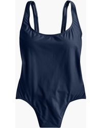 444a8c9284 J.Crew Strappy V-neck One-piece Swimsuit In Colorblock in Pink - Lyst