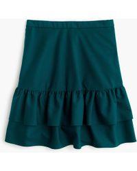 J.Crew - Petitewool Flannel Ruffle Skirt - Lyst