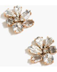 J.Crew - Cluster Stone Earrings - Lyst