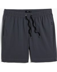 "J.Crew - Onia Charles 7"" Swim Trunks In Charcoal Microstripe - Lyst"