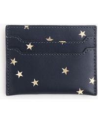 J.Crew - Italian Leather Card Case In Stars - Lyst