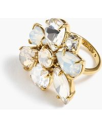 J.Crew - Crystal Cluster Ring - Lyst