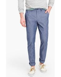 J.Crew - 770 Straight-fit Chino In Stretch Chambray - Lyst