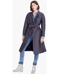 J.Crew - Collection Jacquard Wrap Coat - Lyst