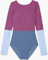Flagpole Swim - Lela One-piece Swimsuit In Bay Orchid Niagara - Lyst