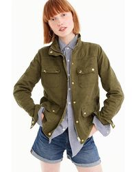 J.Crew - Petite Uncoated Downtown Field Jacket - Lyst