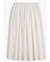 J.Crew - Midi Skirt In Vintage Clip Dot - Lyst