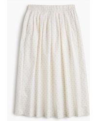 J.Crew - Tall Midi Skirt In Vintage Clip Dot - Lyst