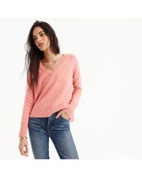 J.Crew - V-neck Sweater In Supersoft Yarn - Lyst