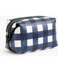 J.Crew - Large Dopp Kit In Gingham Coated Canvas - Lyst