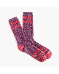 J.Crew - Trouser Socks In Marled Stripe - Lyst