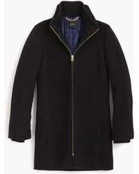 J.Crew Lodge Coat In Italian Stadium-cloth Wool - Black
