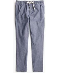 J.Crew - Drawstring Pant In Chambray - Lyst