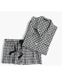 J.Crew - Gingham Pyjama Set - Lyst