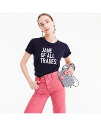 "J.Crew - Prinkshop ""jane Of All Trades"" T-shirt - Lyst"