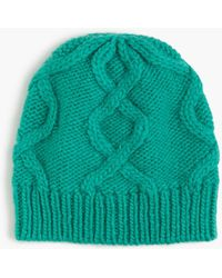 J.Crew - Cable Hat In Italian Wool Blend - Lyst