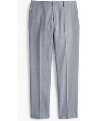 J.Crew - Ludlow Slim-fit Unstructured Suit Pant In Cotton-linen - Lyst