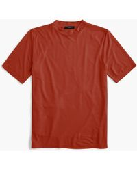 73efcc8b3 J.Crew - Mockneck Lyocell T-shirt - Lyst