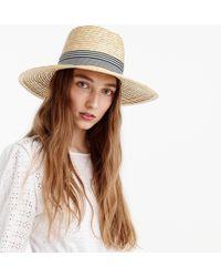 J.Crew - Straw Hat With Grosgrain Ribbon - Lyst